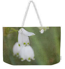 Snowdrops Weekender Tote Bag by Katie Wing Vigil