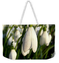 Snowdrops Weekender Tote Bag by Nina Ficur Feenan