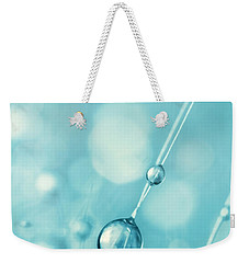 Snowflake Blue Cactus Drops Weekender Tote Bag
