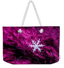 Snowflake On Magenta Weekender Tote Bag