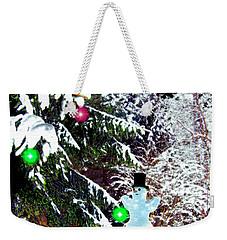 Weekender Tote Bag featuring the digital art Snowman by Daniel Janda