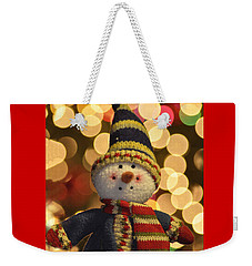 Weekender Tote Bag featuring the photograph Snowman by Diane E Berry