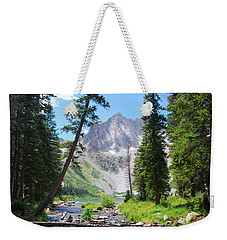 Weekender Tote Bag featuring the photograph Snowmass Peak Landscape by Cascade Colors