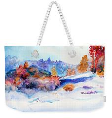 Snowshoe Day Weekender Tote Bag