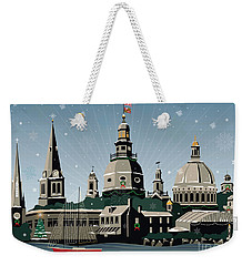 Snowy Annapolis Holiday Weekender Tote Bag
