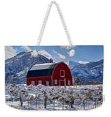 Snowy Barn In The Mountains - Utah Weekender Tote Bag