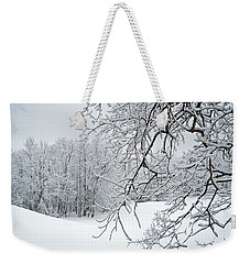 Snowy Branches Weekender Tote Bag by Aimee L Maher Photography and Art Visit ALMGallerydotcom