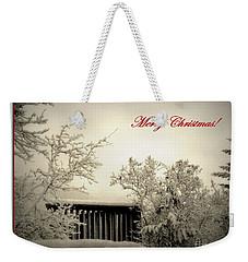 Snowy Christmas Weekender Tote Bag by Leone Lund