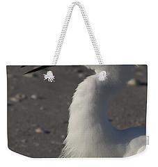 Snowy Egret Fishing Weekender Tote Bag by Meg Rousher