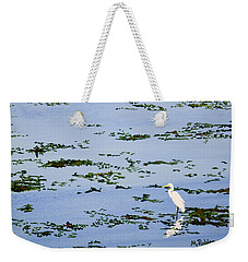 Snowy Egret Weekender Tote Bag by Mike Robles