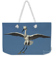 Weekender Tote Bag featuring the photograph Snowy Egret Photo by Meg Rousher