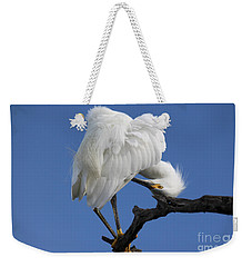 Weekender Tote Bag featuring the photograph Snowy Egret Photograph by Meg Rousher