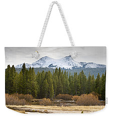 Weekender Tote Bag featuring the photograph Snowy Fall In Yosemite by David Millenheft