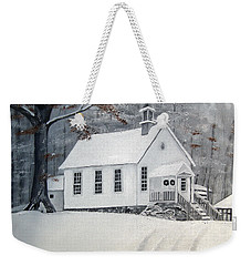 Snowy Gates Chapel  -little White Church - Ellijay Weekender Tote Bag