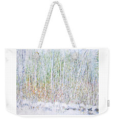 Snowy Landscape In New Hampshire Weekender Tote Bag