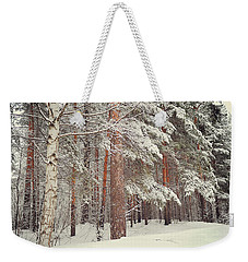 Snowy Memory Of The Woods Weekender Tote Bag