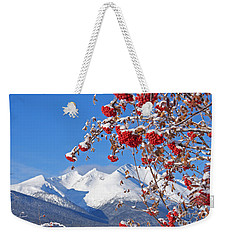 Snowy Mountain Ash Weekender Tote Bag by Stanza Widen