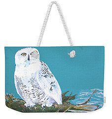Weekender Tote Bag featuring the painting Snowy Owl by Seth Weaver