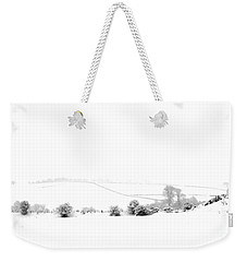 Weekender Tote Bag featuring the photograph Snowy Panorama by Liz Leyden