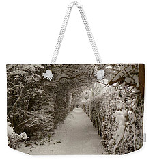 Weekender Tote Bag featuring the photograph Snowy Path by Vicki Spindler