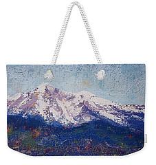 Snowy Peaks Weekender Tote Bag