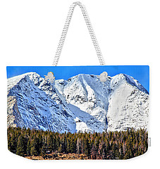 Snowy Ridge Weekender Tote Bag