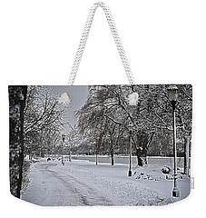 Weekender Tote Bag featuring the photograph Snowy River by Deborah Klubertanz