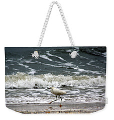 Snowy White Egret Weekender Tote Bag by Kim Pate