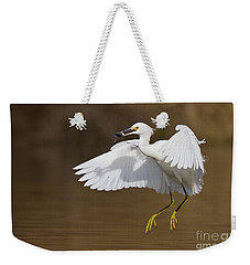 Snowy With A Fish Weekender Tote Bag