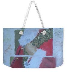 S'nta Claus Weekender Tote Bag by Claudia Goodell