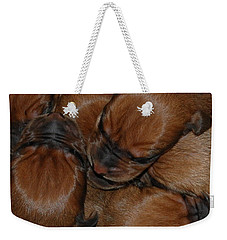 Snuggle Weekender Tote Bag by Mim White