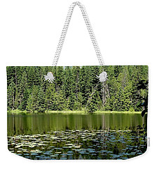 Weekender Tote Bag featuring the photograph Snyder Lake Reflection by Kerri Mortenson