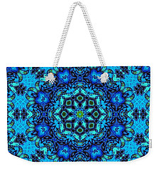 So Blue - 33 - Mandala Weekender Tote Bag by Aimelle