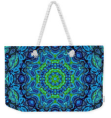 So Blue - 43 - Mandala Weekender Tote Bag by Aimelle