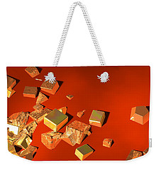 Weekender Tote Bag featuring the digital art So Shiny by Andreas Thust