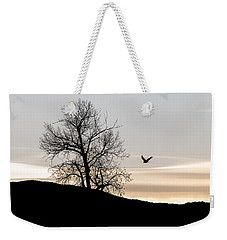 Weekender Tote Bag featuring the photograph Soaring Eagle by Michael Chatt