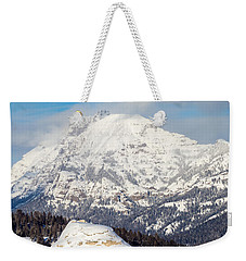 Weekender Tote Bag featuring the photograph Soda Butte by Michael Chatt