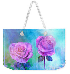 Soft And Beautiful Roses Weekender Tote Bag by Annie Zeno