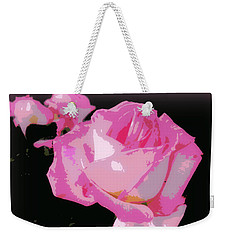 Weekender Tote Bag featuring the photograph Soft And Delicate Pink Rose by Leanne Seymour
