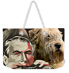 Soft-coated Wheaten Terrier  - Wheaten Terrier Art Canvas Print - Rear Window Movie Poster Weekender Tote Bag