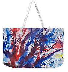 Soft Coral Splatter Weekender Tote Bag