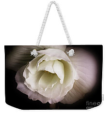 Soft Flower In Black And White Weekender Tote Bag