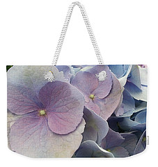 Weekender Tote Bag featuring the photograph Soft Hydrangea  by Caryl J Bohn