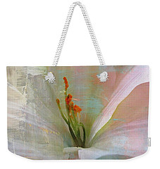 Soft Painted Lily Weekender Tote Bag by Judy Palkimas