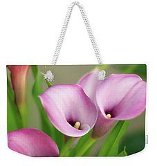 Soft Pink Calla Lilies Weekender Tote Bag