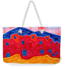Soft Pueblo Original Painting Weekender Tote Bag