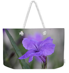 Weekender Tote Bag featuring the photograph Soft Purple Floral by Penny Meyers