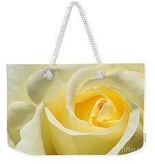 Soft Yellow Rose Weekender Tote Bag