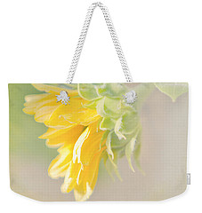 Soft Yellow Sunflower Just Starting To Bloom Weekender Tote Bag