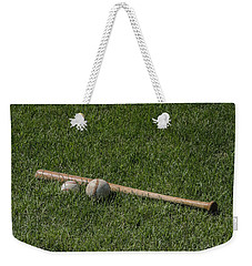 Softball Baseball And Bat Weekender Tote Bag